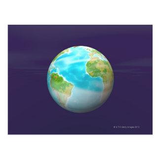 Carte Postale 3D globe 4