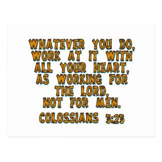 Carte Postale 3h23 de Colossians