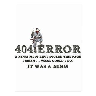 Carte Postale 404 Ninja - ReasonerStore