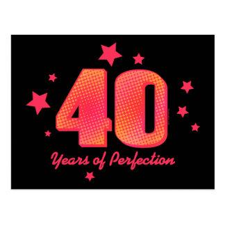 Carte Postale 40 ans de perfection