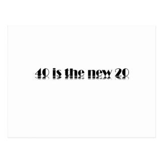 Carte Postale 40 est la nouvelle conception de 20 anniversaires