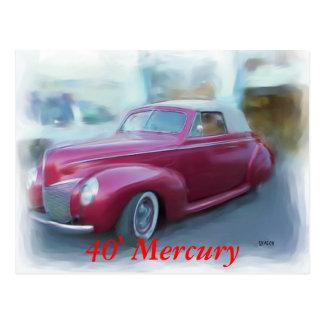 Carte Postale 40' Mercury