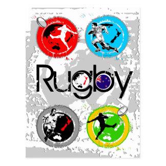 Carte postale 4 de rugby