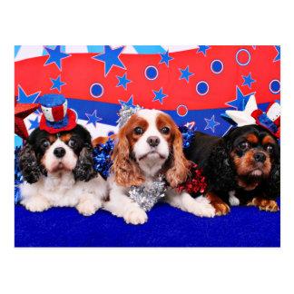 Carte Postale 4 juillet - cavaliers - pavot SweetPea de Rosie