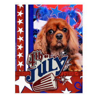 Carte Postale 4 juillet - épagneul cavalier du Roi Charles -