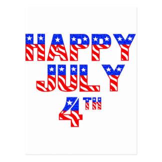 Carte Postale 4 juillet heureux