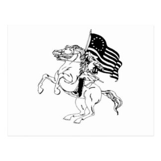 Carte Postale 4 juillet patriote