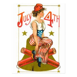 Carte Postale 4 juillet vintage