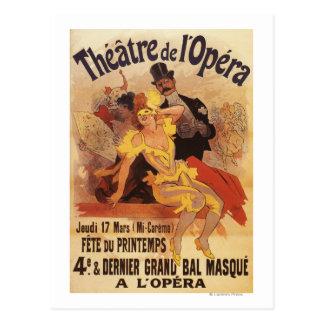 Carte Postale 4ème Boule masquée au théâtre de l'Opera