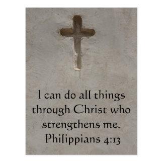 Carte Postale 4h13 de Philippiens inspirant le vers de bible