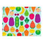 Carte Postale 5 des fruits et légumes de jour