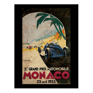 Carte Postale 5ème Grand prix automobile 1933 2 du Monaco