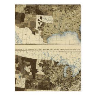 Carte Postale 63 imposition, endettement 1890