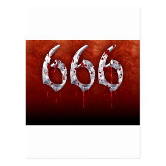 CARTE POSTALE 666