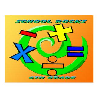 Carte Postale 6ème Roches de catégorie - symboles de maths