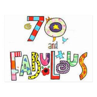 Carte Postale 70 et fabuleux - joyeux soixante-dixième