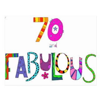 Carte Postale 70 et soixante-dixième anniversaire fabuleux