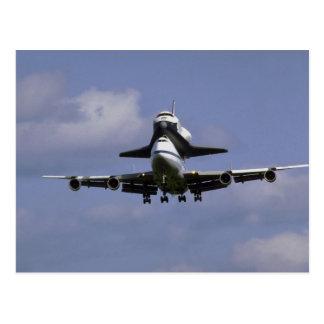 Carte Postale 747 et navette arrivant, air d'International