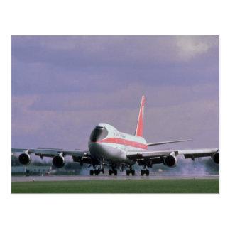 Carte Postale 747 terres à l'aéroport international de Pearson,