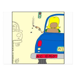 Carte Postale 765 aucuns GMO fumant la dame