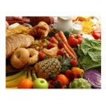 Carte postale 76 de fruit et de nourriture