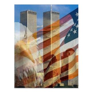 Carte Postale 911 tours de drapeau d'aigle