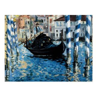 Carte Postale À de canal grand de le Venise - Edouard Manet