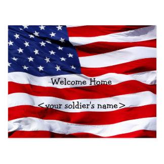 Carte postale à la maison bienvenue de partie