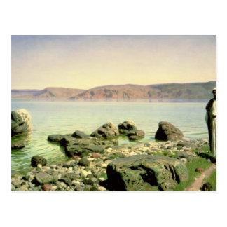 Carte Postale À la mer de la Galilée, 1888