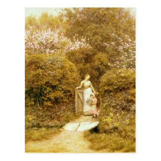 Carte Postale À la porte de cottage