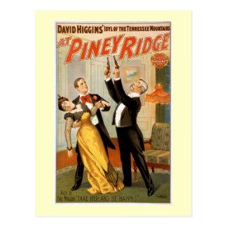Carte Postale À l'affiche vintage Piney de théâtre de Ridge