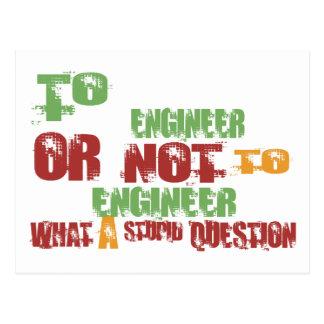 Carte Postale À l'ingénieur