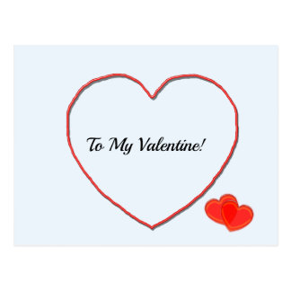 Carte postale - à ma forme de coeur de Valentine