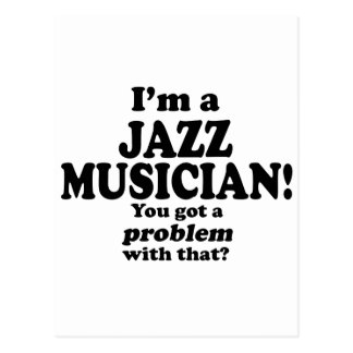 Carte Postale A obtenu un problème avec le ce, musicien de jazz