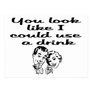 Carte Postale a pu employer la boisson