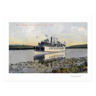 Carte Postale Abaissez la vue de lac du vapeur Klamath