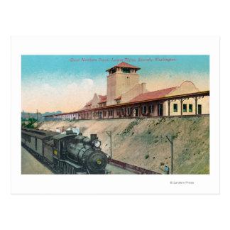 Carte Postale Abaissez la vue du grand dépôt du nord et