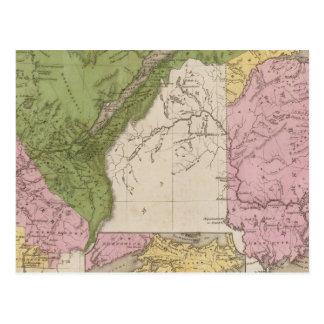 Carte Postale Abaissez le Canada et le Nouveau Brunswick