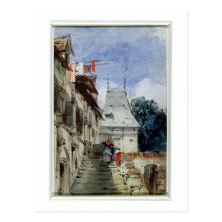 Carte Postale Abbaye St-Amand, Rouen (la semaine, bodycolour et