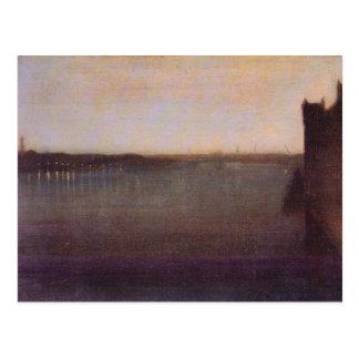 Carte Postale Abbé McNeill Whistler - nocturne de James dans le