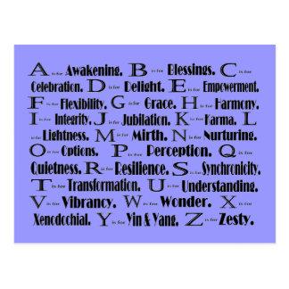 Carte Postale ABC à enchanter