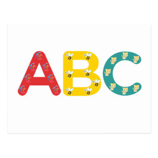 Carte Postale ABC par PaddleDuck