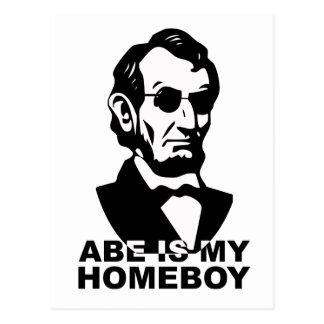 Carte Postale Abe est mon Homeboy