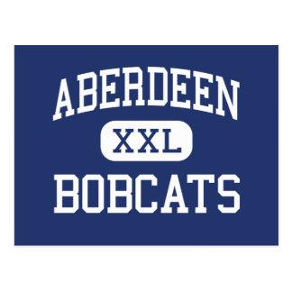 Carte Postale Aberdeen - chats sauvages - haut - Aberdeen