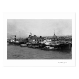 Carte Postale Aberdeen, WA - vue de bord de mer et d'expédition