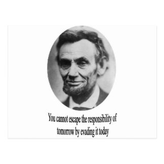 Carte Postale Abraham Lincoln avec la citation