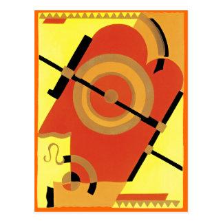 Carte Postale Abrégé sur art déco d'âge de jazz