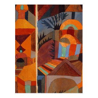 Carte Postale Abrégé sur coloré Paul Klee de cubisme