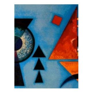 Carte Postale Abrégé sur Kandinsky doucement dur