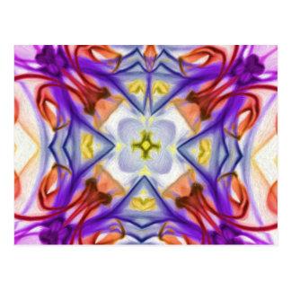 Carte Postale Abrégé sur multicolore papillon de Kaleidescope